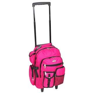Everest 18.5-inch Deluxe Wheeled Backpack (Option: Hot Pink)