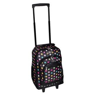 Everest 18-inch Polka Dot Wheeled Backpack