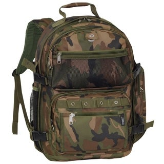 Everest Oversized 20-inch Lightweight Woodland Camo Backpack