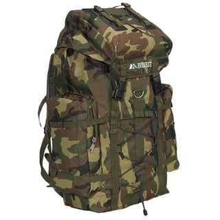 Everest 24-inch Woodland Camo Hiking Backpack