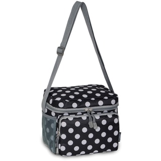 Everest Black and White Polka Dot Shoulder Lunch Tote