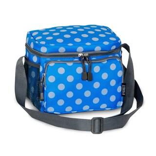Everest Blue and White Polka Dot Shoulder Lunch Tote