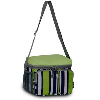 Everest Lime and Navy Striped Shoulder Lunch Tote