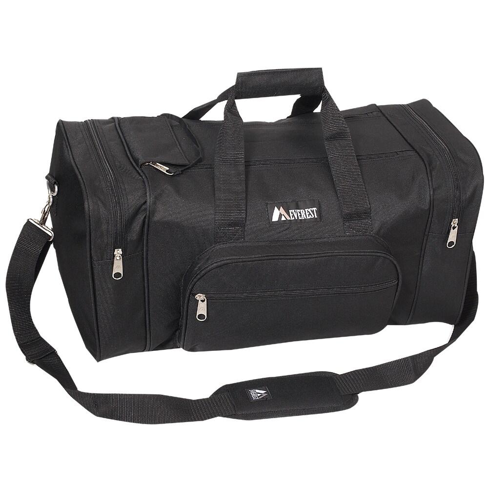 Everest 20-inch Carry On Classic Black Gear Duffel Bag (B...