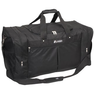 Everest 30-inch Black Travel Gear Duffel Bag