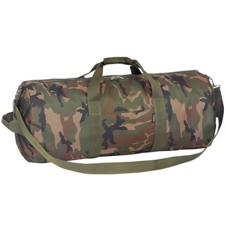 Everest 30-inch Woodland Camo Rounded Duffel Bag