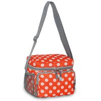 Everest Orange and White Polka Dot Shoulder Lunch Tote