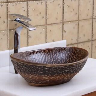 elite oval bronze glaze porcelain ceramic bathroom vessel sink