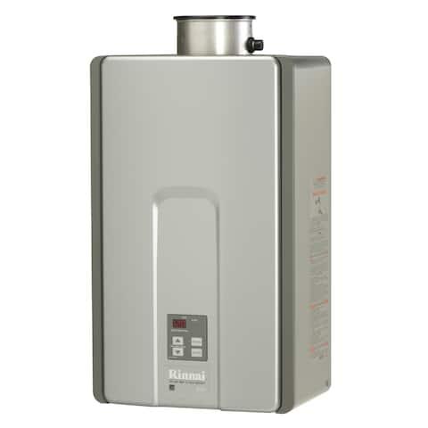 Rinnai Tankless Water Heater (Internal 199k Btu 9.4gpm max w/Valve) RL94iN Silver