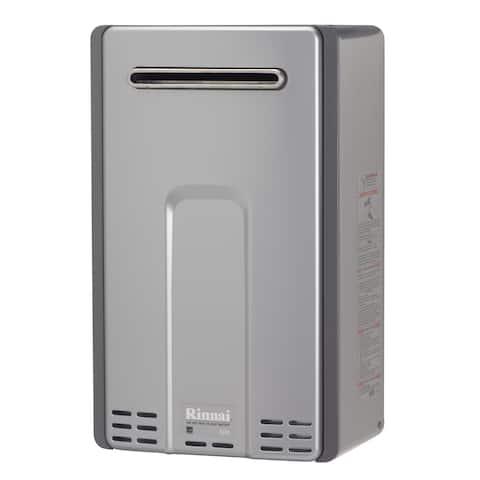 Rinnai Tankless Water Heater (External 199k Btu 9.4gpm max w/Valve) RL94eN Silver