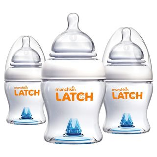 Munchkin Latch BPA-free 4-ounce Bottle (Pack of 3)