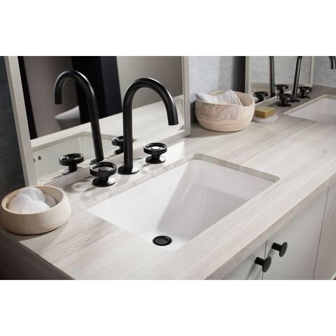 Ladena White Under-mount Bathroom Sink