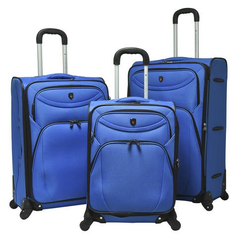 """Traveler's Club Cypress 3-piece Expandable Spinner Luggage Set - 29"""" upright/25"""" upright/20"""" carry-on"""
