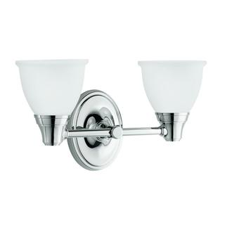 Kohler Forte Transitional 2-light Polished Chrome Wall Sconce