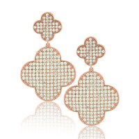 Gold Overlay Designer Earrings