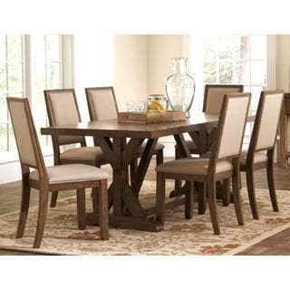 Sontuoso Rustic Trestle Base European Design Dining Set