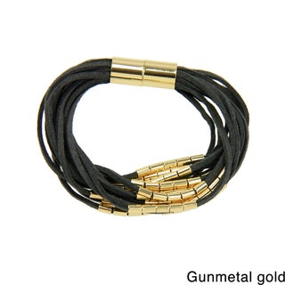 Saachi Suede Multi Strand Magnetic Bracelet (China)
