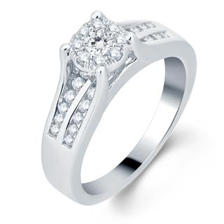10k White Gold 1/2ct TDW Diamond Unity Engagement Ring (H-I , I1-I2)