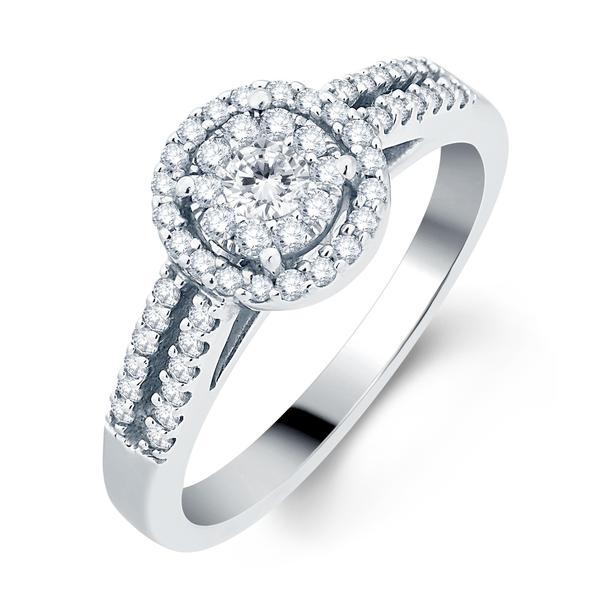 Divina 14k White Gold 1/2ct TDW Diamond Bridal Ring (H-I, I1-I2)