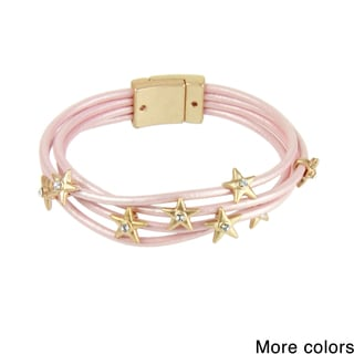 Handmade Saachi Star Multi Strand Leather Magnetic Bracelet (China)
