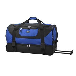 Traveler's Club Adventure 30-inch 2-Section Drop-Bottom Rolling Duffel Bag