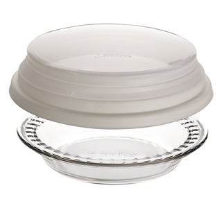Anchor Hocking Deep 9.5-inch Pie Dish with Cover