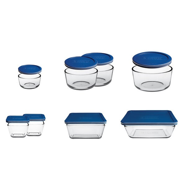 3ea44f5b3d Shop Anchor Hocking 16-piece Kitchen Storage Set Blue - Free Shipping On  Orders Over $45 - Overstock - 10422328