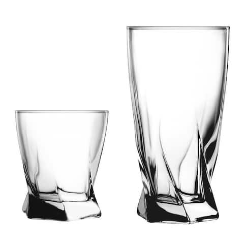 Anchor Hocking Sybil 16-piece Drinkware Set
