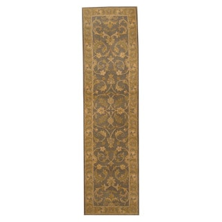 Herat Oriental Indo Hand-tufted Mahal Wool Runner (2'1 x 7'11)