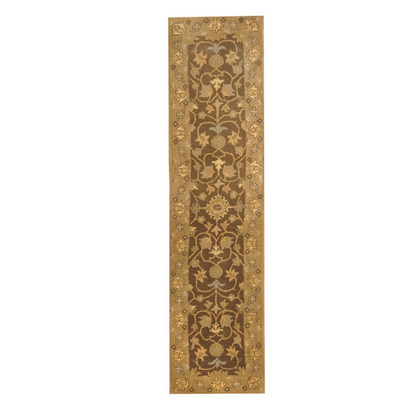 Herat Oriental Indo Hand-tufted Mahal Wool Runner (2' x 7'9)