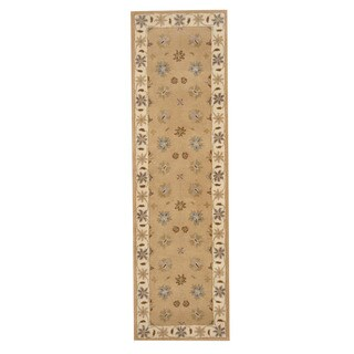 Herat Oriental Indo Hand-tufted Mahal Wool Runner (2'4 x 8'1)