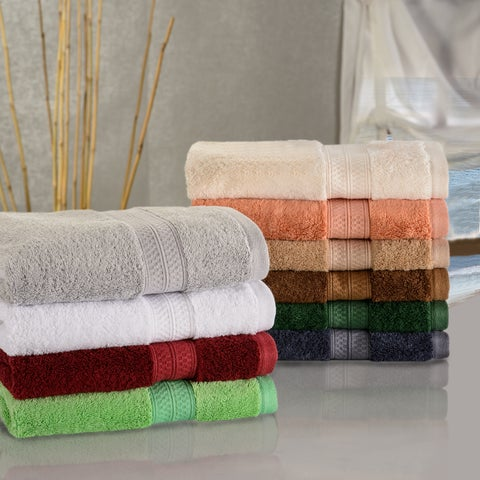 Superior Soft, Absorbent Rayon from Bamboo and Cotton Face Towel (Set of 12)