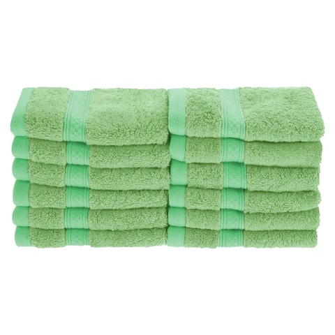 Miranda Haus Soft, Absorbent Rayon from Bamboo and Cotton Face Towel (Set of 12)