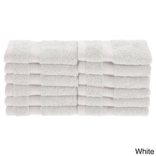 Superior Collection Soft, Absorbent Rayon from Bamboo and Cotton Face Towels (Set of 12)