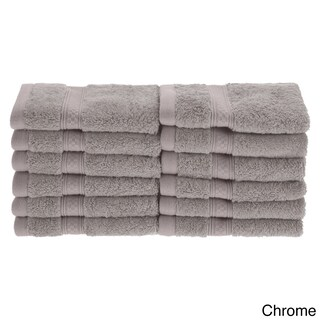Superior Soft, Absorbent Rayon from Bamboo and Cotton Face Towel (Set of 12) (Option: CHROME)
