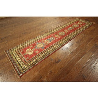 Hand-knotted Elegant Red Super Kazak Persian Oriental Area Rug (3' x 11')