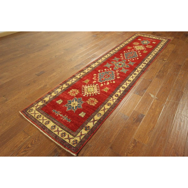 Shop Made In Pakistan Hand-knotted Wool Super Kazak Love