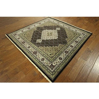 Traditional Square Oriental Tabriz Hand-knotted Wool/ Silk Area Rug (10' x 11'), 6'), 6' x 6')