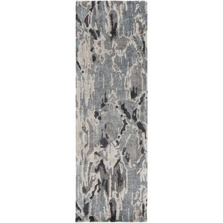 Hand-Tufted Isabel Abstract Banana Silk Rug (2'6 x 8')
