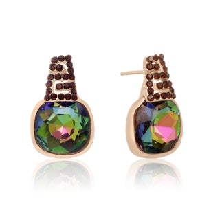 Mystic Topaz Stud Earrings, Gold Overlay, Pushbacks