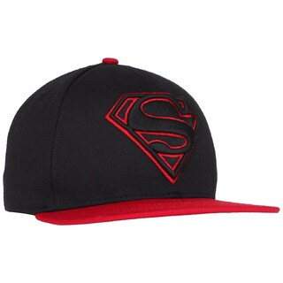 Superman Black/ Red Baseball Cap