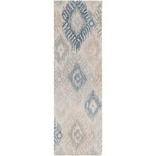 Hand-Tufted Inez Ikat Banana Silk Rug (2'6 x 8')