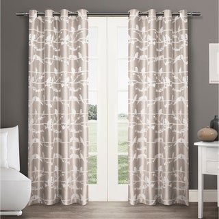 ATI Home Lovebirds Curtain Panel Pair with Grommet Top - 54X84