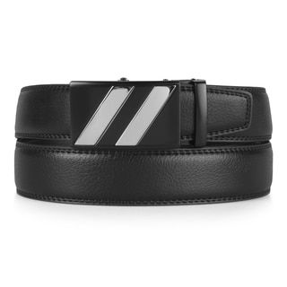 Vance Co. Men's Genuine Leather Ratchet Belt