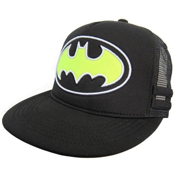 Batman Black/ Neon Green Mesh Officially Licensed Baseball Cap