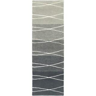 Hand-Tufted Fatima Geometric Wool Rug (2'6 x 8')