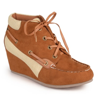 Journee Collection Women's 'Oak' Lace-up Wedge Ankle Boots