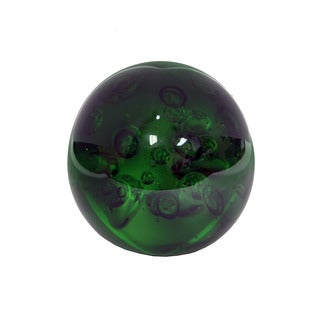 Decorative Green Glass Orb