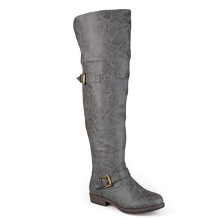Link to Journee Collection Women's 'Kane' Regular and Wide-calf Studded Over-the-knee Inside Pocket Buckle B Similar Items in Women's Shoes