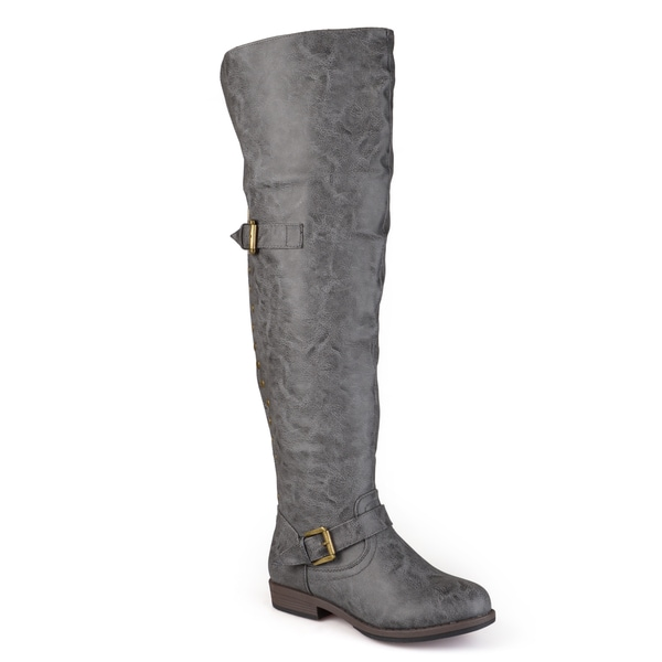 Journee Collection Women's 'Kane' Regular and Wide-calf Studded ...